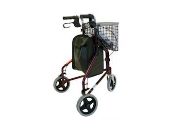 Driewiel rollator opvouwbaar