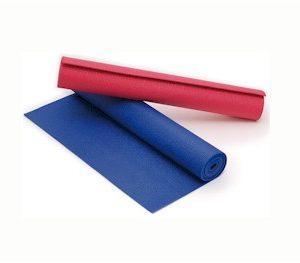 Yoga mat ultra dun 180 x 60 x 0,4 cm - koningsblauw