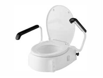 Toiletverhoger - met opklapbare armleuningen