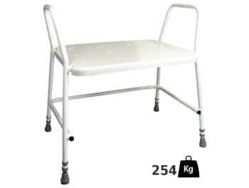 Xl douchestoel met armleuningen - belastbaar tot 254 kilo