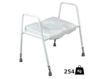 XL toiletoverzet met armleuningen - belastbaar tot 254 kilo