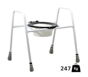 XL verhoogde toiletzitting met frame - belastbaar tot 247 kilo