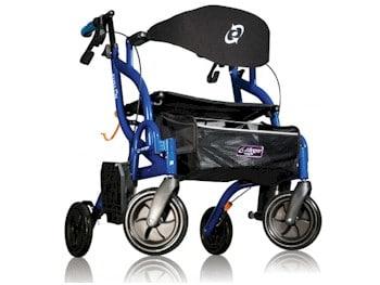 Airgo Fusion inklapbare rolstoel en rollator in één