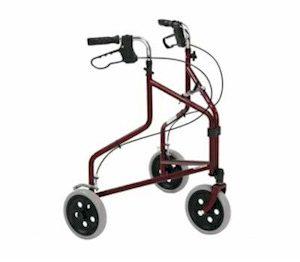driewielrollator met mandje rood