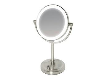 Dubbelzijdige en vergrotende spiegel met LED verlichting