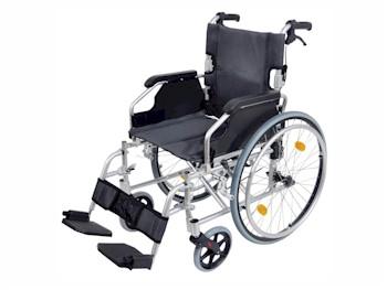Compacte lichtgewicht rolstoel met handrem