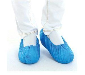 plastic ocerschoenen blauw per 5 of per 50 paar